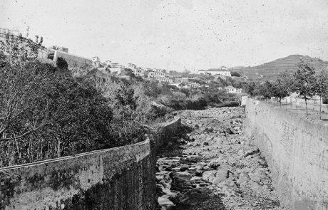 Ribeira de São João, (vista jusante/montante), freguesia de São Pedro, concelho do Funchal – Segunda metade do Séc. XIX