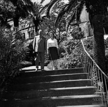 Lord e Lady Butler, no jardim do Reid's Palace Hotel (atual Belmond Reid's Palace), Freguesia de São Martinho, Concelho do Funchal