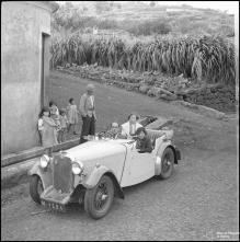 """Automóvel """"M-1284"""" durante a I Rampa dos Barreiros, Concelho do Funchal"""