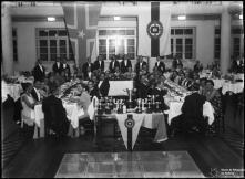 Jantar de entrega de prémios aos participantes da Gincana e I Rampa dos Barreiros no Hotel Savoy, Freguesia de São Pedro (atual Freguesia da Sé), Concelho do Funchal