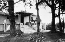 Jardim e entrada do edifício da Quinta do Pilar, Freguesia de São Martinho, Concelho do Funchal