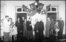 Festa dos cônsules Alemão e Italiano festejando a vitória do Eixo, no consulado italiano, Concelho do Funchal