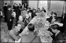 Almoço protocolar, no palácio de São Lourenço, durante a visita do general Óscar Carmona, Freguesia da Sé, Concelho do Funchal