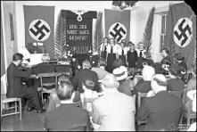 Atuação de coro numa festa no Colégio Alemão, Concelho do Funchal