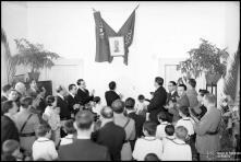 Descerramento de fotografia de Oliveira Salazar, na escola do Laranjal, Freguesia de Santo António, Concelho do Funchal