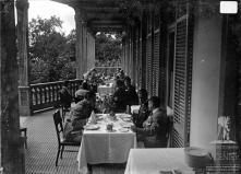 Almoço no Hotel Belmonte, oferecido a Júlio Prestes de Albuquerque e comitiva pelo governador civil da Madeira coronel José Maria de Freitas, Freguesia do Monte, Concelho do Funchal