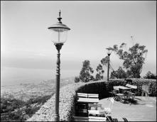 """Vista panorâmica do Funchal, a partir da esplanada do Chalet """"Restaurant-Esplanade"""" (atual Quinta do Terreiro da Luta), Freguesia do Monte, Concelho do Funchal"""