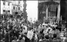 Cerimónia da benção do Santíssimo Sacramento, no adro da Sé, Freguesia da Sé, Concelho do FUnchal
