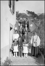 Grupo da visita do Espírito Santo, na Freguesia da Ribeira Brava, Concelho da Ribeira Brava