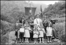 Grupo da visita do Espírito Santo, na Freguesia da Serra de Água, Concelho da Ribeira Brava
