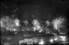 Fogo de artifício na passagem do ano de 1948 para 1949, Freguesia da Sé, Concelho do Funchal