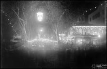 Iluminações de Natal e Fim de Ano na avenida Zarco, na passagem de ano de 1936 para 1937, Freguesia da Sé, Concelho do Funchal