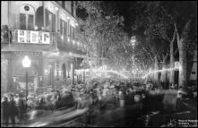 Iluminações de Natal e Fim de Ano na avenida Zarco, na passagem de ano de 1936 para 1937, Freguesia da Sé,Concelho do Funchal