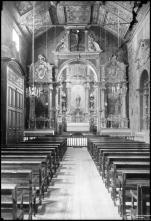 Altar mor e nave da igreja do convento de Santa Clara, Freguesia de São Pedro, Concelho do Funchal