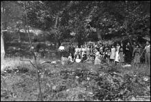 Retrato de grupo em ambiente florestal