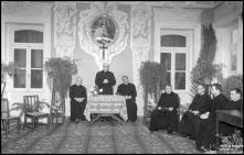 Cónego Manuel Pombo, no Seminário do Funchal, em evento não identificado, Freguesia de Santa Luzia, Concelho do Funchal