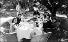 Almoço no jardim do Hotel Bela Vista (atual Seminário Diocesano do Funchal), Freguesia da Sé, Concelho do Funchal