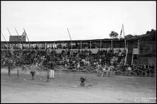 Campo dos Barreiros (atual estádio do Marítimo) durante a gincana a favor da Escola de Artes e Ofícios, Freguesia de São Martinho, Concelho do Funchal