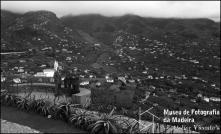 Escritor Gilberto Freyre no miradouro do Pico dos Barcelos, Freguesia de Santo António, Concelho do Funchal