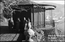Escritor Gilberto Freyre no mirante da Quinta Vigia (atual Casino Parque Hotel), Freguesia da Sé, Concelho do Funchal