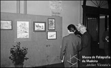 Exposição de desenhos do artista madeirense Carlos Barcelos no salão nobre do Teatro Municipal, Freguesia da Sé, Concelho do Funchal